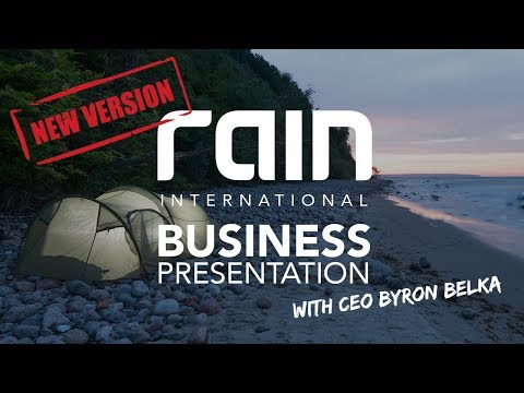 Rain International - New Business Opportunity Presentation with CEO Byron Belka