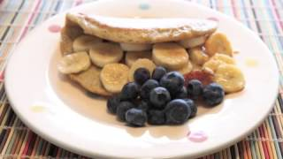 Penfold Goes Paleo. Day 21. Crepes With Banana, Bluberries And Honey...starring Peg!!!.