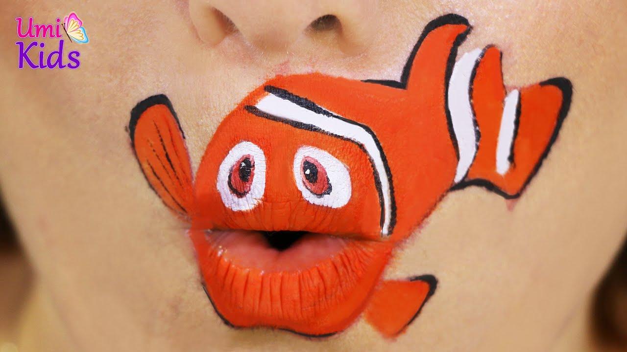 Kayip Balik Nemo Makyaji Dudak Sanati Umikids Makyaj Videolari