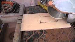 Cutting an Outlet Hole Into a Tile