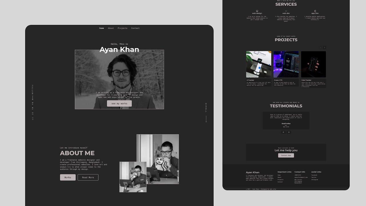 Complete React Portfolio Website Project | Intro & Setup