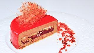 Шоколадный муссовый торт с зеркальной глазурью / Chocolate Mousse Cake with Mirror Glaze(, 2016-04-04T15:31:28.000Z)