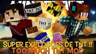 Super Explosões !! 35 Novas Tnt's Minecraft - Too Much TNT Mod