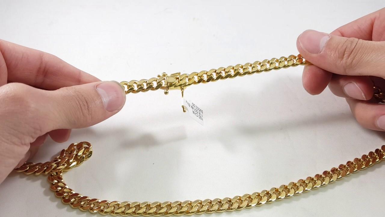 8mm Miami Cuban link chain - YouTube 6e9d88cdb6