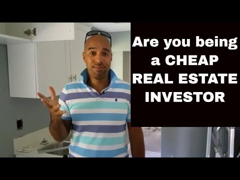 The real  cost of being a CHEAP real estate investor