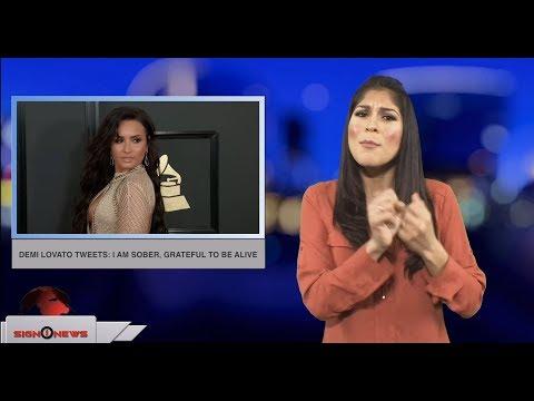 Demi Lovato tweets: I am sober, grateful to be alive (ASL - 12.23.18) Mp3