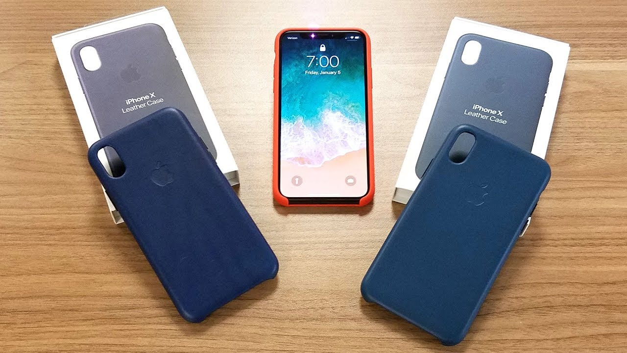 separation shoes 4f3e3 edc8d iPhone X Leather Case Midnight Blue vs Cosmos Blue in 4K