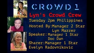 LYN MAZZER CROWD1 TEAM ZOOM MEETING | HOW TO MAKE MONEY?