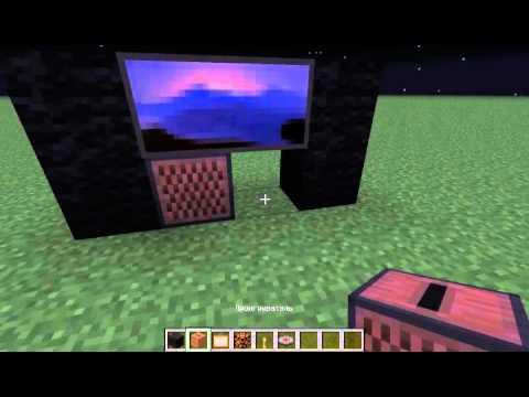 Minecraft как сделать телевизор 1.5.2