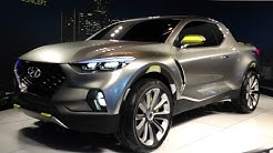 Hyundai Santa Cruz Concept Car Detail First Look Review - 2015 NAIAS Detroit