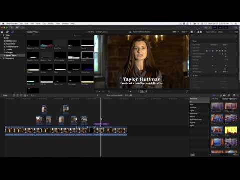 Taylor Huffman Realtor How To Video - Final Cut Pro X edit