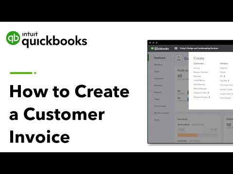 How to Create a Customer Invoice | QuickBooks Online US Tutorial 2019