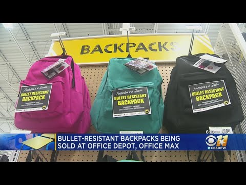 Pat McMahon - Stores in Texas Are Selling Bullet Resistant Backpacks