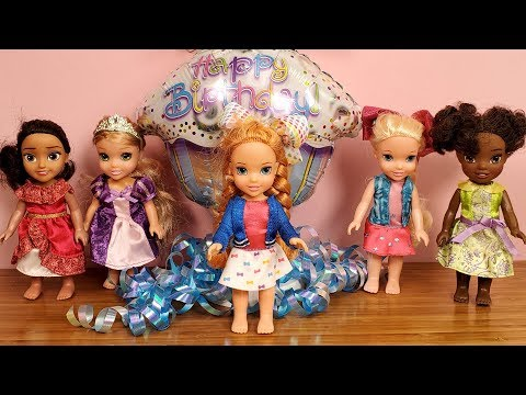 Anna's BIRTHDAY !  Elsa and Anna toddlers – JoJo Siwa themed party – cake – gifts