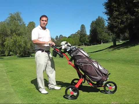Caddylite 13 5 Golf Push Cart By Caddytek Youtube