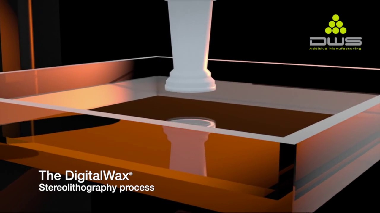DWS STEREOLITHOGRAPHY PROCESS - YouTube