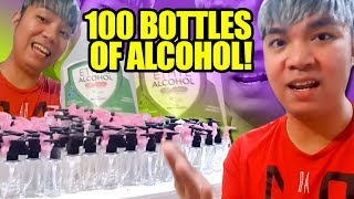 GIVING 100 BOTTLES OF ALCOHOL PARA SA PGH FRONTLINERS AT CANCER PATIENTS | LOCKDOWN VLOG #1