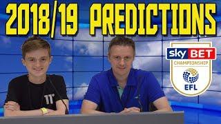 EFL Final Championship League Table Predictions 2018/19