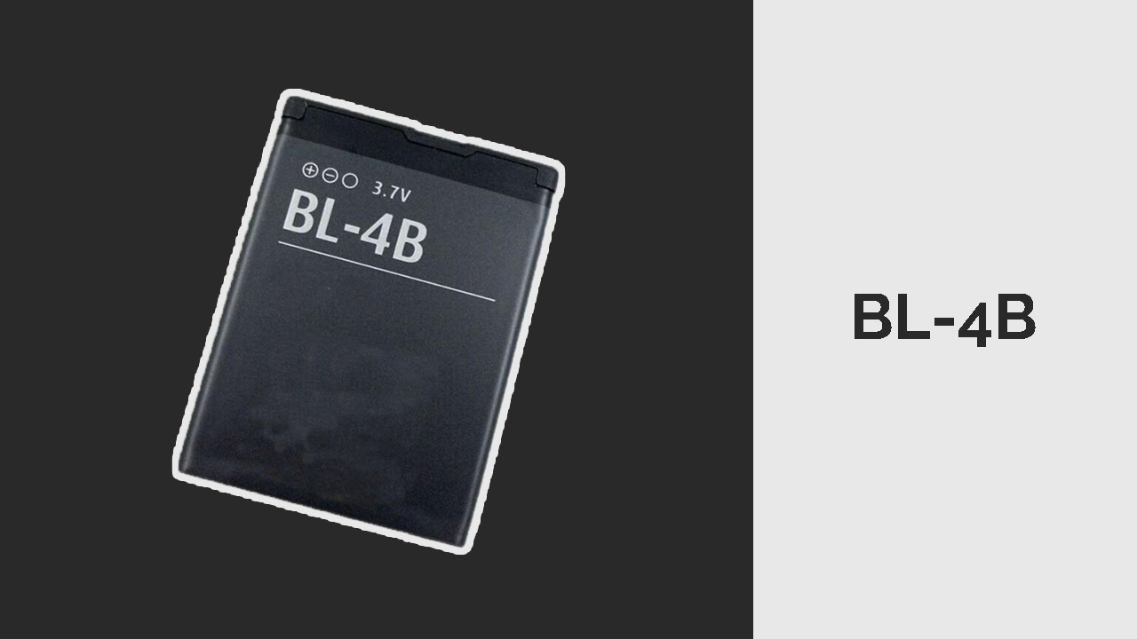 Nokia Battery 700 mAh - 3.7V - BL-4B - YouTube