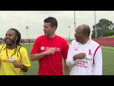 Michael Ballack talks about his commitment to stopping the AIDS epidemic