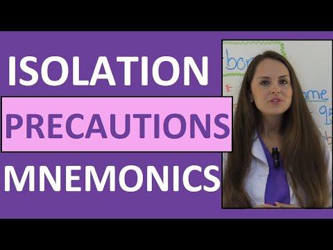 Isolation Precautions Nursing Mnemonics NCLEX Contact, Droplet - isolation precautions