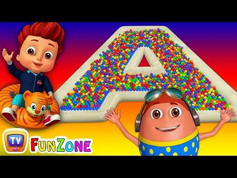 Thumbnail: The ABC Song | Ball Pit Fun Show for Kids to Learn ALPHABETS | ChuChu TV Funzone 3D for Children