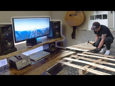 DIY STUDIO DESK made from PALLET WOOD?! how can be (Build Log)