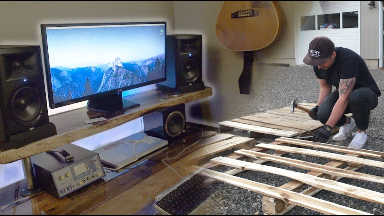 Diy Studio Desk Made From Pallet Wood How Can Be Build Log