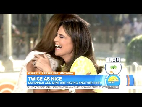 "Savannah Guthrie Surprise Announcement ""Im Pregnant"" #TodayShow"