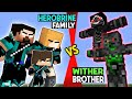HEROBRINE'S STRONG FAMILY VS. WITHER'S BROTHERS - Monster School - Best Minecraft Animation
