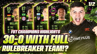30-0 ON FUT CHAMPS USING RULERBREAKER PLAYERS ONLY!! Fifa 21 TOP 100 HIGHLIGHTS & SQUAD BUILDER!!