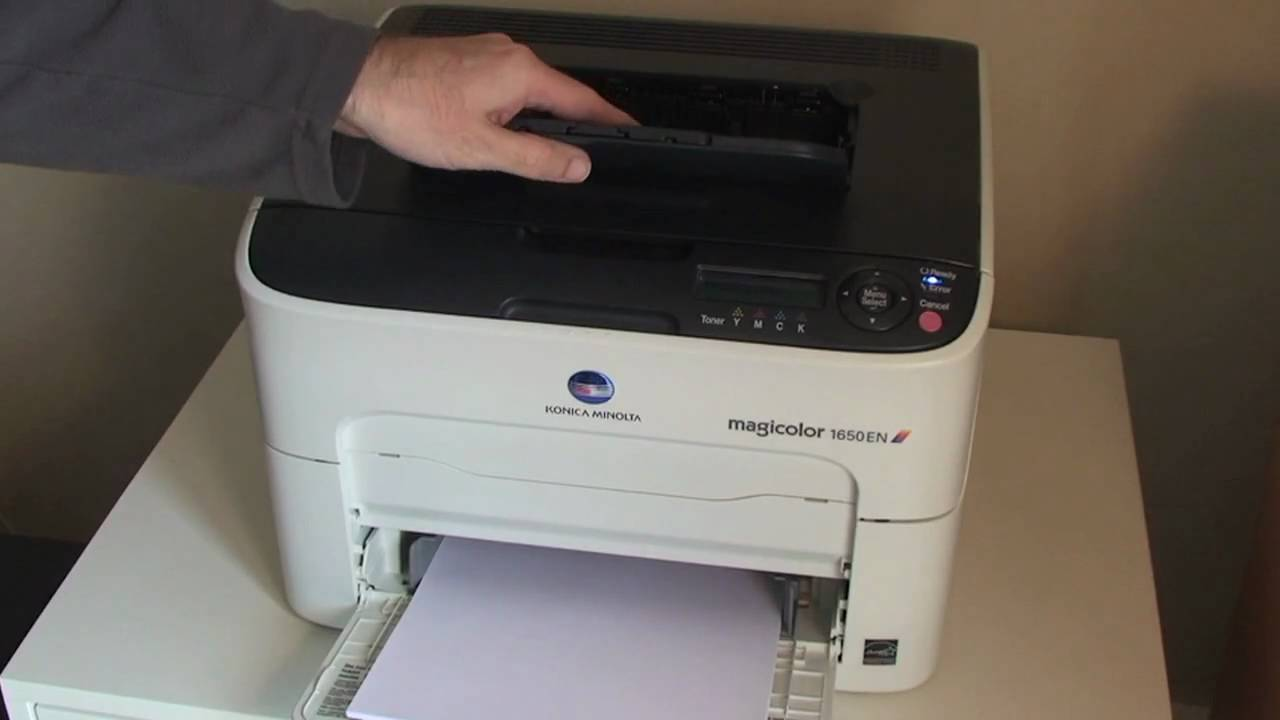 konica minolta magicolor 1650 en colour laser printer review youtube rh youtube com Konica Minolta 1690MF Drivers Konica Minolta Toner Magicolor 1690