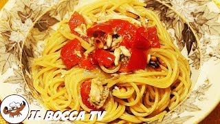 46 - Spaghetti all'acciuga fresca..'na mangiata principesca! (primo piatto velocissimo e leggero)