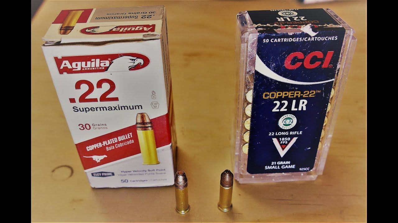Super Hot 22LR Ammo! CCI Copper 22 vs Aguila Supermaximum