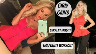 Day in the life of a CEO | Current Weight | Glute Workout | Girly Gains