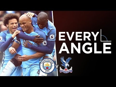 VINCENT KOMPANY GOAL: EVERY ANGLE | Man City 5-0 Crystal Palace
