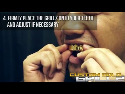 How to Fit Grillz by Custom Gold Grillz (Video Instructions)