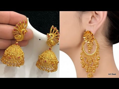 Beautiful Gold Earrings Designs - Latest Fashion Traditional