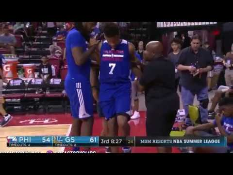 Markelle Fultz gets injured in Summer League Game the Philadelphia Curse lives on !!!!!!!!