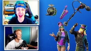 Ninja & Faze Tfue React To *EPIC* Stage Slayer & Synth Star Skins! - Fortnite