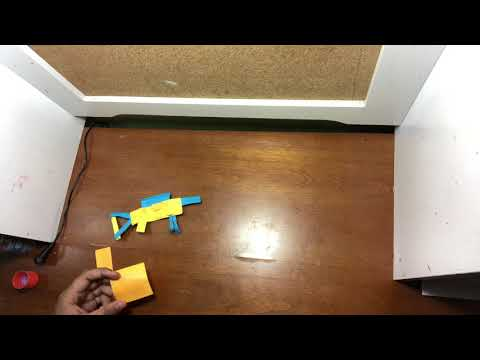 How to make a paper sniper out of sticky notes