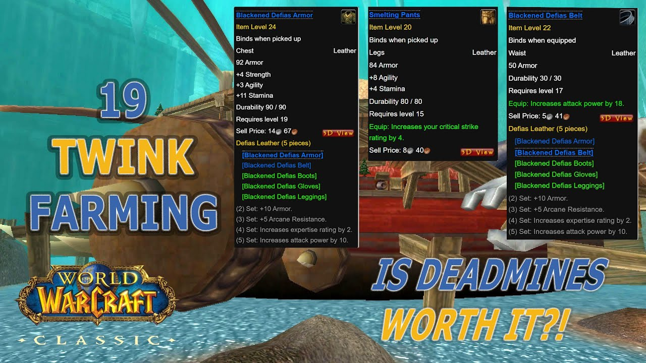 Wow Classic Is Deadmines Worth It For Power Leveling Deadmines Xp Farm Vs Sfk Xp Farm Youtube