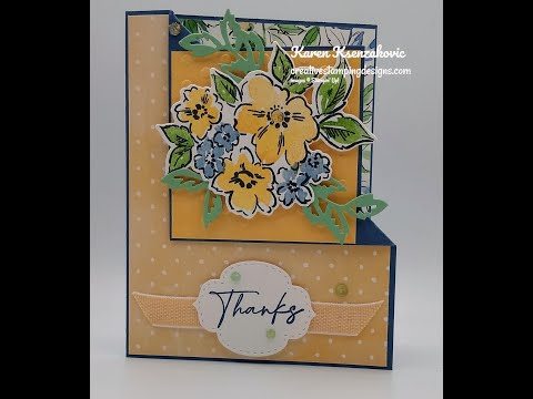 Stampin' Up! Hand-Penned Petals Corner Fold Video Tutorial