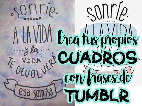 Frases De Tumblr Cuadro Pintado Con Acuarelas Facil Y