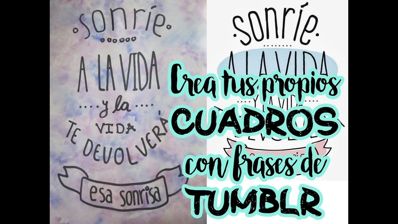Imágenes De Frases Tumblr: FRASES DE TUMBLR /cuadro Pintado Con Acuarelas / FACIL Y