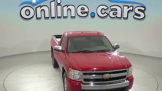 C97824RT Used 2007 Chevrolet Silverado Standard Cab Red Test Drive, Review, For Sale