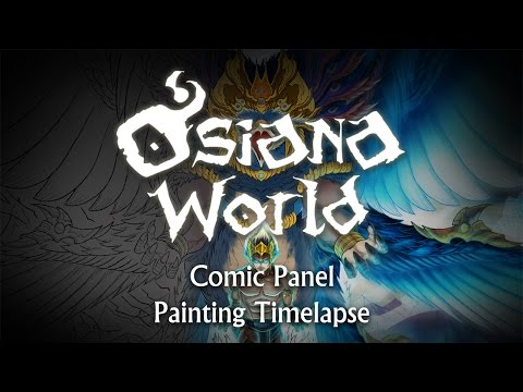 Timelapse | Osiana World | Comic Panel Painting | Comic Book