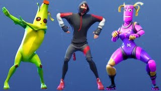 Fortnite All Dances Season 1-8 Updated to Scenario (Samsung Galaxy S10 Exclusive Skin & Dance)