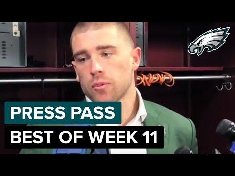 Zach Ertz, Lane Johnson, & More React To Week 11 Loss | Eagles Press Pass Compilation