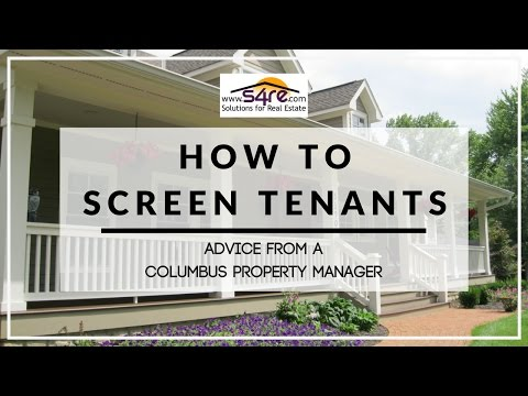 How to Screen Tenants | Property Management Advice in Columbus, OH